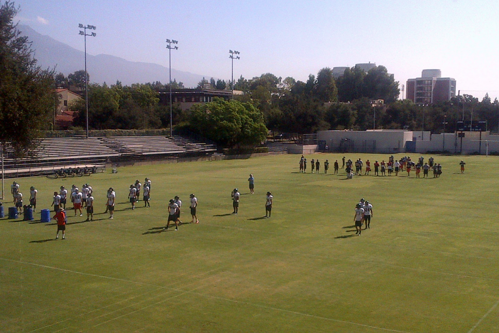 The Pomona-Pitzer football team begins practicing for the fall semester