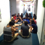 Sponsor group at Pomona College on Move-In Day