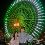 Will enjoys the dazzling Yokohama Ferris Wheel