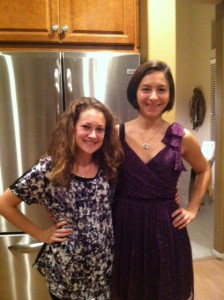 Chiara came home with me to celebrate passover with my entire family!