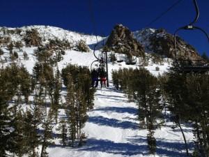 Skiing at Mammoth Mountain