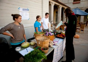 The Farm stand (which happens every other Thursday from 4-6) where we sell our fresh produce