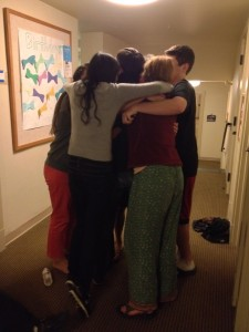 Spogroup hug! Evan's in the middle somewhere