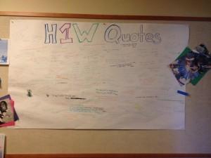 H1W Quote Board