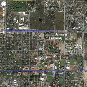 Three-mile running route