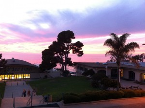 The view from right outside the venue at PLNU!