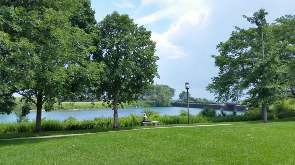 Lake Michigan view at Northwestern University
