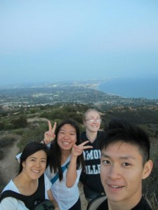 Atop the hills of Malibu, overlooking the LA Basin