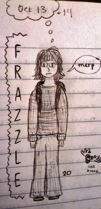 A self-portrait from one of my more stressful moments last semester