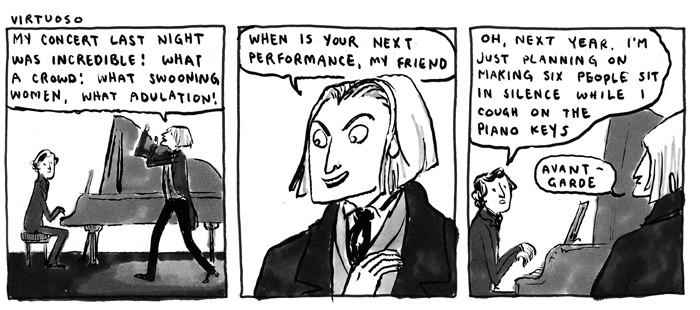 "credit to the ""Chopin and Liszt"" comic by Hark! a Vagrant"