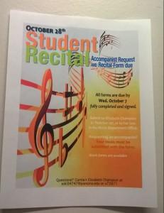 The first indicator of recital season