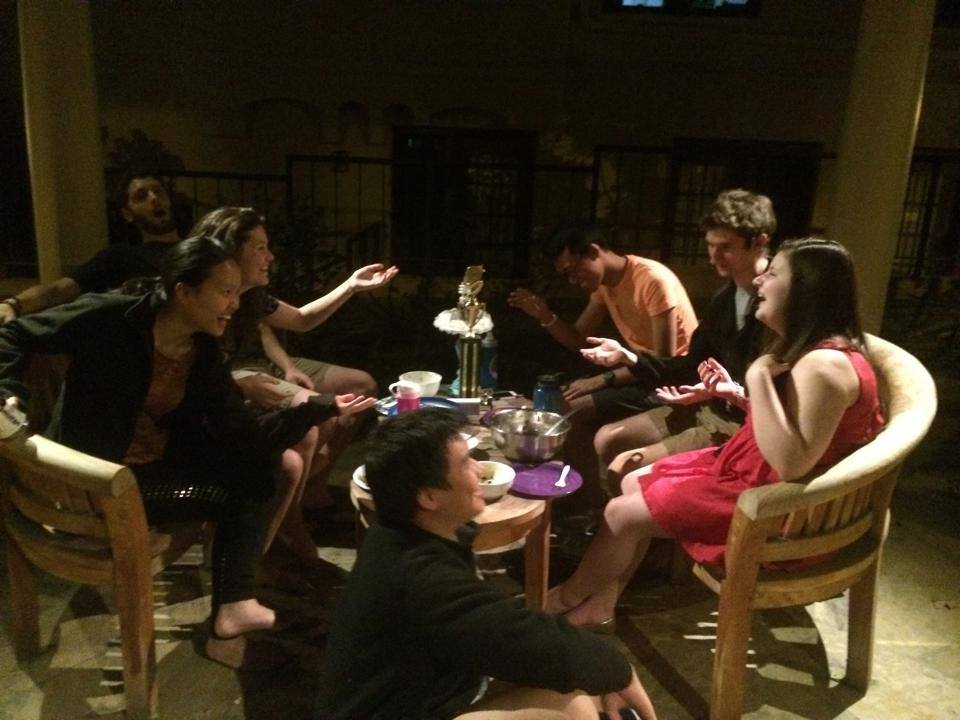 Here's one of our teams from last year celebrating with home cooked dinner after making it out of regionals!