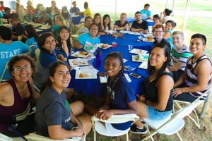 The cuties of Wig 2 North during lunch on Move-In Day!