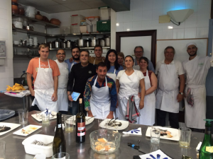 At the Luis Irizar Cooking School