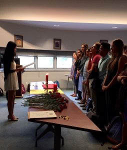 One of the events I recently hosted - the Sigma Delta Pi initiation ceremony at the 5 Claremont Colleges.