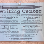Writing Center schedule