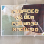 Writing Center sign