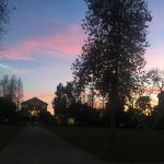 Sunset over Marston Quad