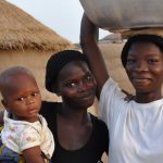 Ghanaian women and child