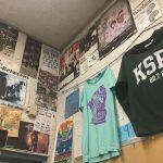 KSPC walls with T-shirts