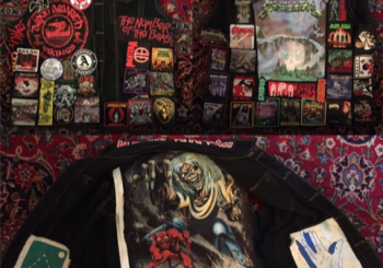 My battle vest, covered with patches of bands I like, baseball teams, and art made by me and my friends