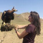 Dakota with a raptor