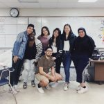 Selena and friends in the classroom