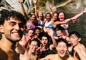Sophia and friends swimming in Yosemite Falls