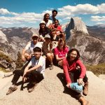 OA group posing in front of Half Dome