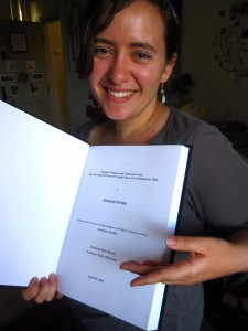 Me with my lovely hardbound thesis!