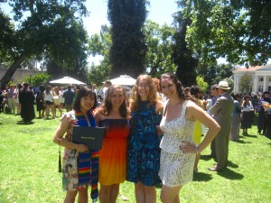 My friends and I in all the crazy after graduation