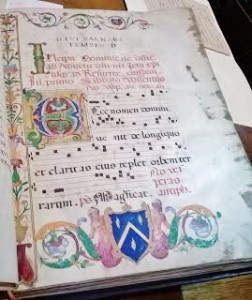 Reason #4 to major in music: You get to see the restricted part of the library that has original manuscripts by monks from centuries ago!