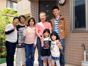 Me and my host family - the Kojima family.