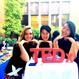 Pictured are my friends Rachel Song (PO '18) and Carly Grimes (PO '18) smiling after a long but successful event!