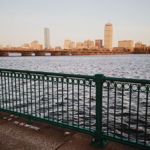 The Boston city skyline, as seen from Cambridge on the other side of the Charles! Beautiful skylines everywhere you look.