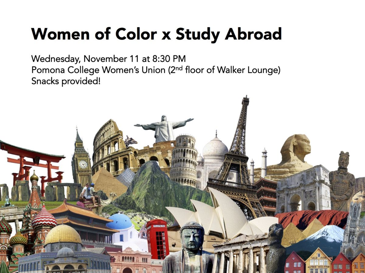 WoC x study abroad event flyer