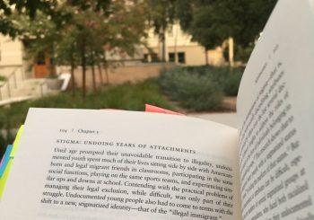 reading outside