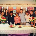 with friends in Ecuador