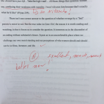 comments on an essay