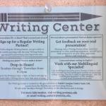 Writing Center schedule