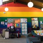 Interior of Queer Resource Center