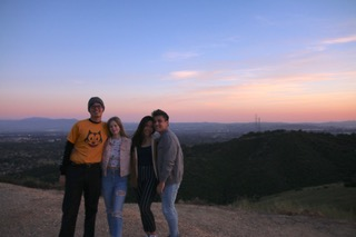 Siena with friends on Claremont hike
