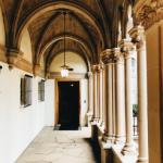 Balch Hall courtyard at Scripps