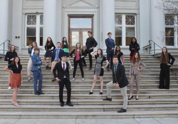 Members of MUN on steps of Carnegie Hall
