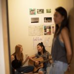 3 students in dorm room
