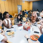 students dining at Oldenborg