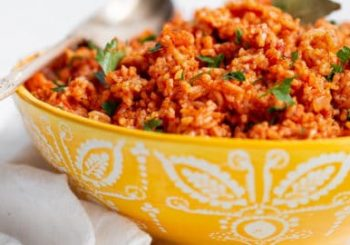 bowl of jollof rice