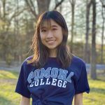 photo of Lucy Pan in Pomona College t-shirt