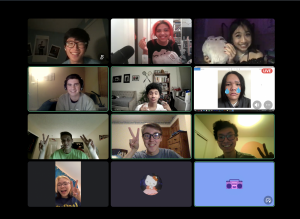 Lucy and 11 friends on zoom