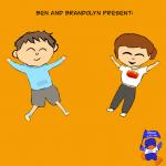 cartoon images of Ben and Brandolyn